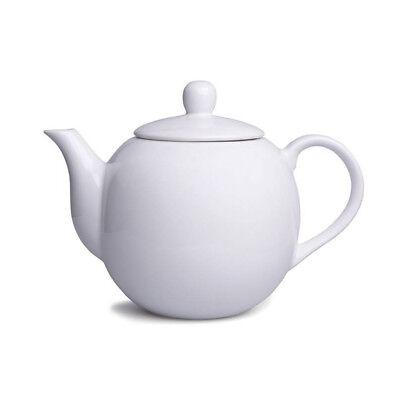 Edle Teekanne weiss 1,1 Liter Edel Porzellan Kaffekanne Porzellankanne Kanne