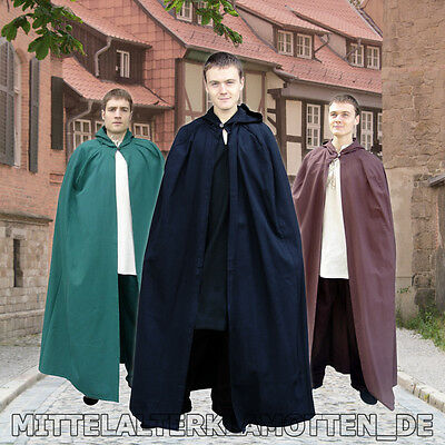 Mittelalter Umhang, VIELE FARBEN, Baumwolle, Mittelalter Mantel Kapuze - Mittelalter Cape