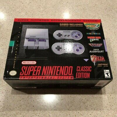 SNES Super Nintendo Classic Mini Super Entertainment System 21 Games - BRAND NEW