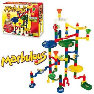 Marbulous-Childrens-Kids-Marble-Drop-Race-Run-100pce-Construction-Track-Toy-Set