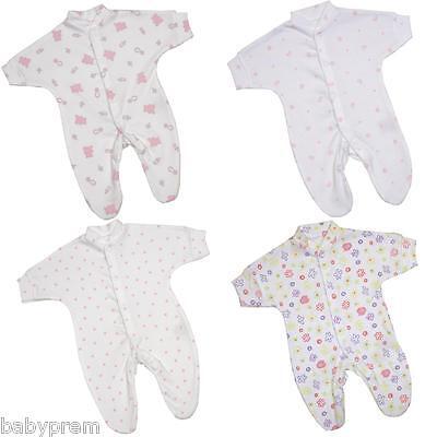 BabyPrem Baby Clothes 1 Premature Preemie Tiny Girls Cotton Sleepsuit Babygrow