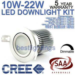 CREE-LED-DIMMABLE-CEILING-DOWNLIGHT-COMPLETE-KIT-FIXTURE-FITTING-WITH-SAA-DRIVER