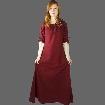 Mittelalterliches Kleid kurzarm kurzärmelig Mittelalterkleid 5 Farb. Mittelalter