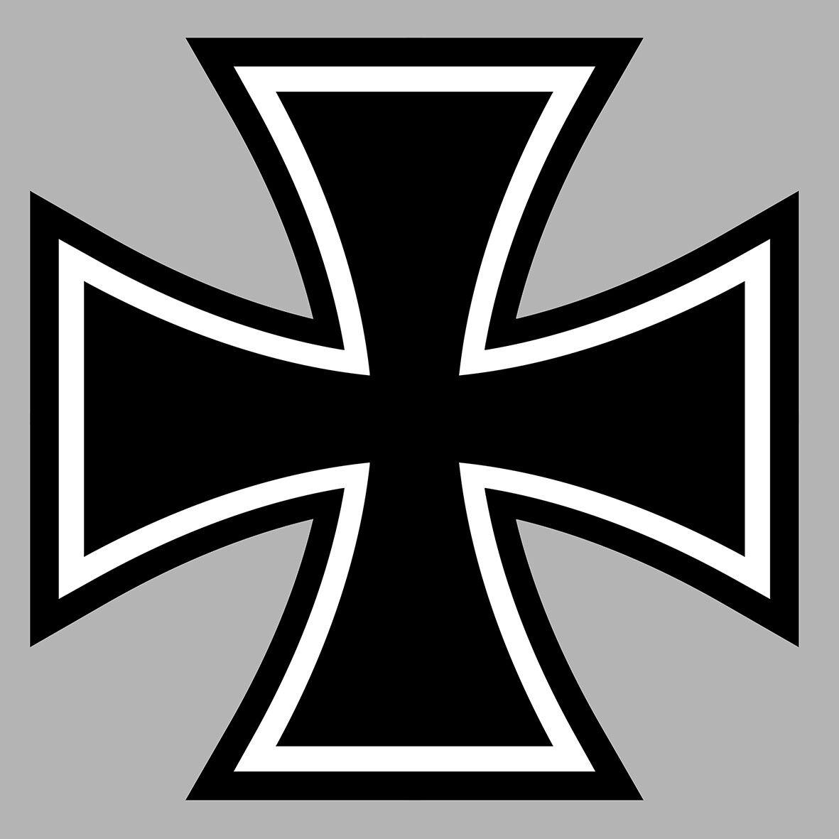 autocollant croix de fer malte biker avion guerre allemand sticker (ca141)