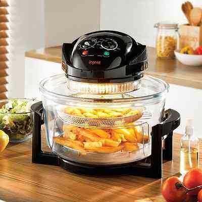 17 Litre  Halogen Convection Oven Cooker Extender Ring Grill Roast  Air Fryer