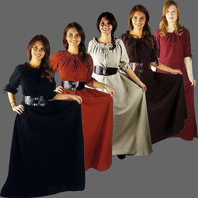 elig XS-XXXL Mittelalterkleid kurzarm Mittelalter Kleid LARP (Kurze Mittelalter-kleid)