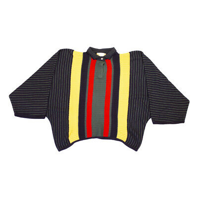 Gianni Versace Collared Batwing Sweater Top | Vintage Luxury Italian Designer