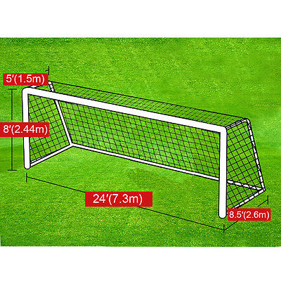New Portable 24' x 8' Official Size Soccer goal Net Outdoor Football Training