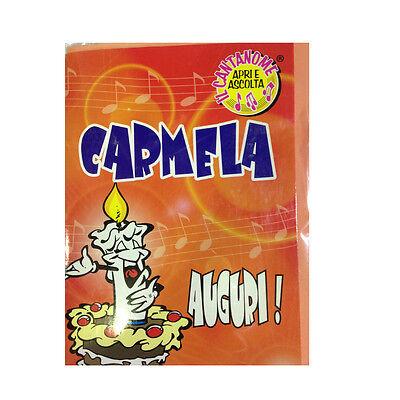 Geburtstag Singt (Geburtstag Karte Musical singt Nome Carmela und viele Grüße für Sie)