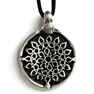 Colgante flor de metal con cable de made in italy