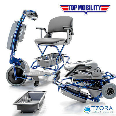 Tzora ELITE Easy Travel Folding Portable Mobility Scooter NEW + FREE ACCESSORIES