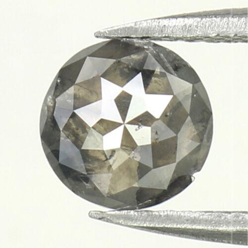 1.12 Ct Natural Loose Diamond, Round Rose Cut, Salt and Pepper Diamond, L737