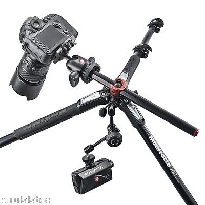 Manfrotto NEW 190, MT190XPRO4, 190 Aluminum 4 Section Tripod, Exp