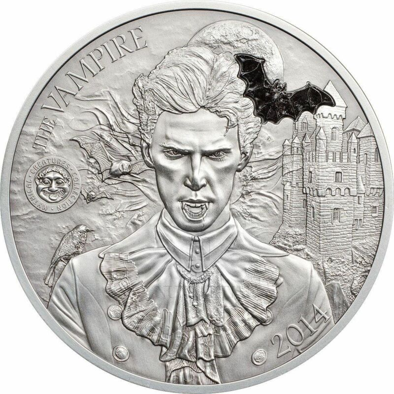 2014 Palau Mythical Creatures II - The Vampire 2oz Silver Coin