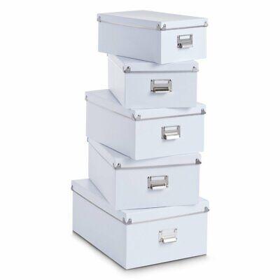 5 cajas de carton de almacenaje distintos tamaños,alta calidad,varillas metálica