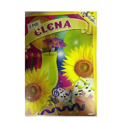 Geburtstag Singt (Karte Musical Geburtstag Generika singt Nome Elena und viele Grüße für Sie)