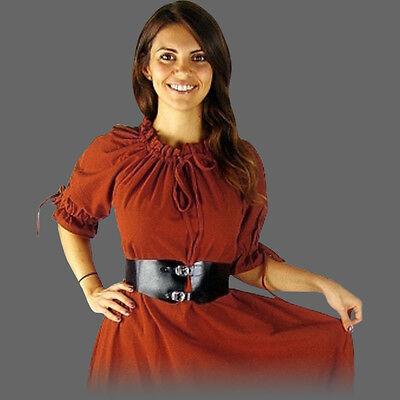 zärmelig 5 Farben 7 Größen kurzarm Mittelalter Sommer Kleid (Kurze Mittelalter-kleid)