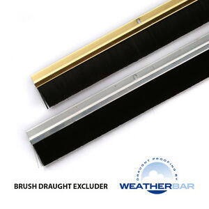 Weatherbar-Ally-Brush-Draught-Draft-Excluder-33-36-Lengths-Various-Finishes