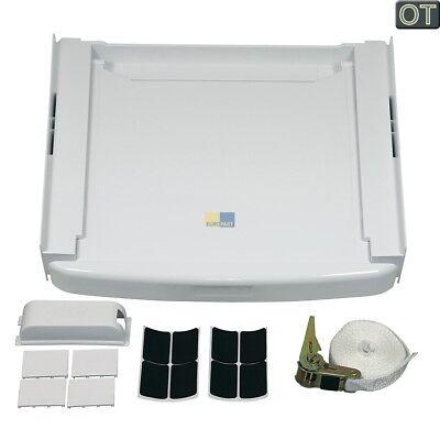 ORIGINAL Verbindungsrahmen Waschmaschine/Trockner + Ablage Wpro SKS101 SKS100
