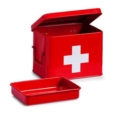 Caja de Medicamentos Rojo Medicina Gabinete Estante Casa Farmacia