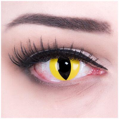 mit Stärke gelb schwarz Cat Eye für Halloween Fasching (Cat Eye Für Halloween)