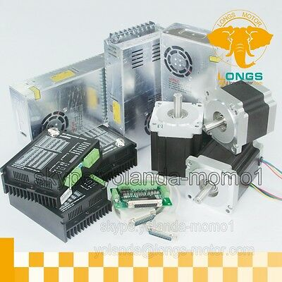 3 Axis Nema 34 Stepper Motor 1 Pc1600 Oz.in  2 Pcs 878 Oz.in Driver Cnc Kit