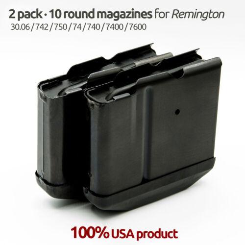 2 Pack Remington 742/750/74/7400/7600/740/30.06/270 10 Round Magazine