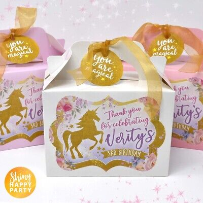 UNICORN Personalised Flowers Petals Favor Party Gift Box Bag Lunch Birthday  Flower Petal Gift Bags