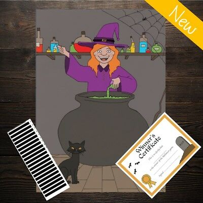 Pin the Wand on the Witch - Halloween Party Spooky Game Activity - 20 Player!! - Halloween Games Activities