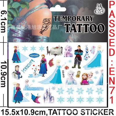 Frozen Tattoo (Frozen Princess Anna Elsa Olaf Temporary tattoo sticker birthday party)
