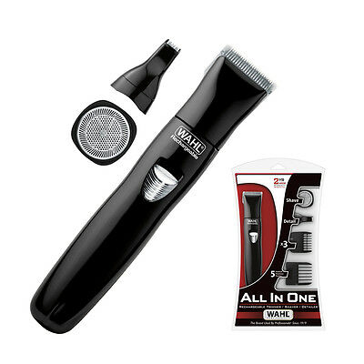 WAHL ALL IN ONE Trimmer/Shaver/Detailer Rechargeable - Cordless Beard Body Hair for sale  Shipping to Canada