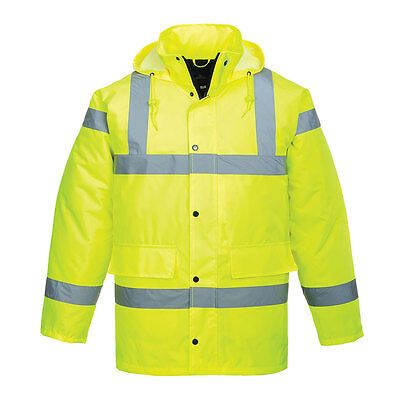 Safety Heavyweight Parka Jacket ( XSMALL High Visibility Hi Vis Road Safety Traffic Waterproof RAIN Parka)