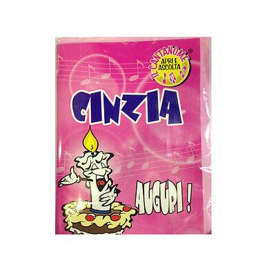 Geburtstag Singt (Geburtstag Karte Musical singt Nome Cynthia und viele Grüße für Sie)