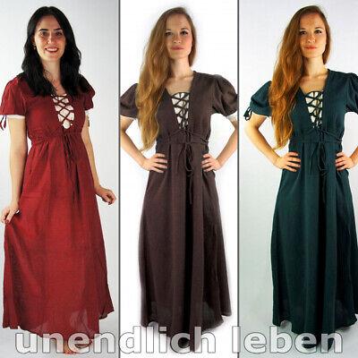zärmelig Sommer Mittelalter Freizeit Kleid kurzarm S-5XL (!) (Kurze Mittelalter-kleid)
