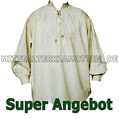 ELE FARBEN, XXXS - XXXXL, Mittelalterhemd Piratenhemd Gewand (Herren Piraten Hemd)