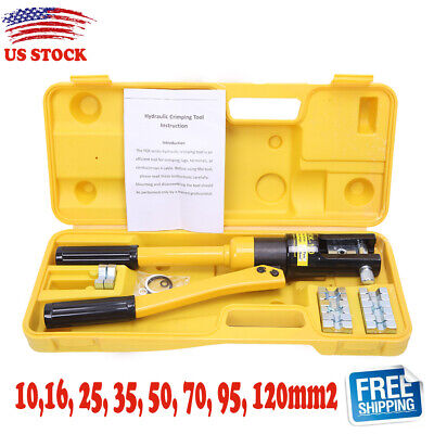 12 Ton Hydraulic Wire Battery Cable Lug Terminal Crimper 10 -120mm Crimping Tool