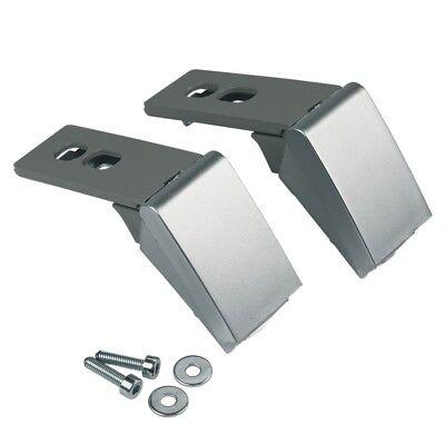 2x Scharnier Tür Griff silber Reparatursatz Kühlschrank wie Liebherr 9590178 (Kühlschrank Tür Griff)