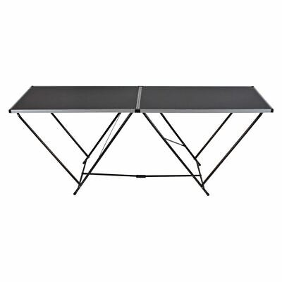 2M STEEL PORTABLE FOLDING TABLE HEAVY DUTY OUTDOOR PICNIC GARDEN BBQ NEW