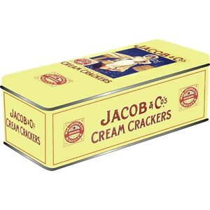 NEW JACOBS CREAM CRACKERS TIN CANISTER KITCHEN OPIE STORAGE GIFT VINTAGE BISCUIT