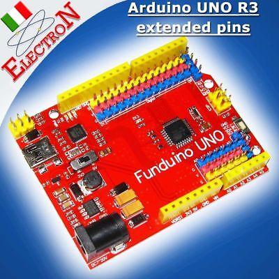 Arduino UNO R3 compatibile + ATmega16U2 USB + extended pins ATmega328P FUNDUINO