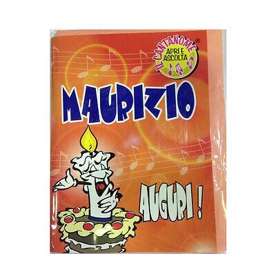 Geburtstag Singt (Geburtstag Karte Musical singt Nome Maurizio und viele Grüße für Sie)