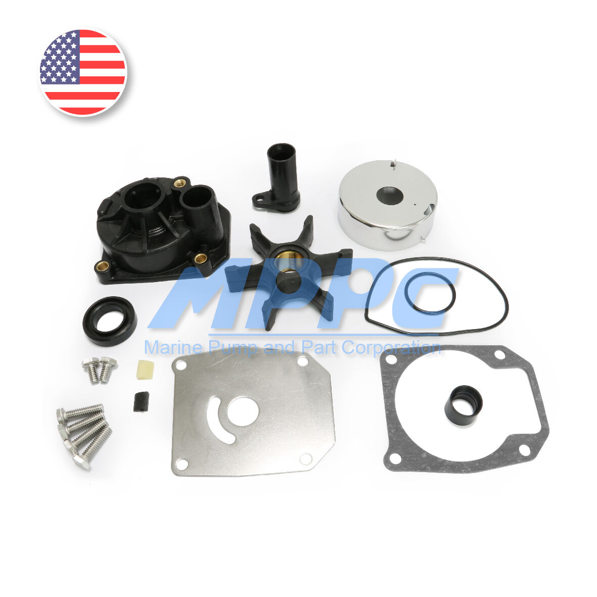 Water pump impeller kit 432955 for evinrude johnson for Water pump motor parts
