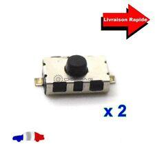 2 Boutons Poussoirs Switch pour Télécommande Coque Plip clé Mini Nissan Saab