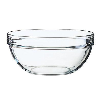 Arcoroc Stapelschale, transparent, H 10,5 cm, Ø 23 cm, 1 Stk. - Glasschale