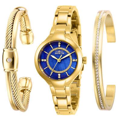 Invicta Women's Quartz Watch - Angel Blue Mother of Pearl Dial Steel Bracelet |