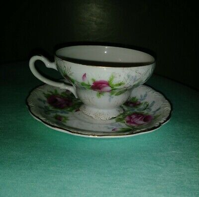 VINTAGE Dresden Rose China Tea/Coffee Cup And Saucer Set NW-9/110 MINT CONDITION Dresden Rose Cup