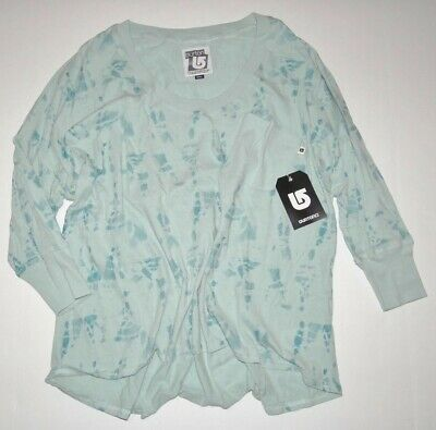 Burton Womens Palmer 3/4 Sleeve Embellished Tie back Tee Top T-Shirt Small