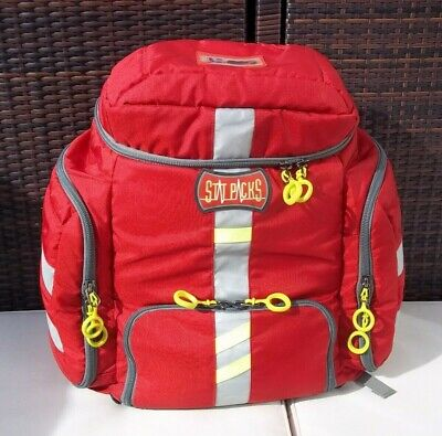 Statpacks G3 Clinician Backpack Bag - Great For Ems Emt First-aid - Red