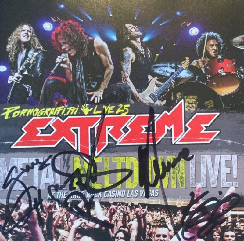 SIGNED Extreme Pornograffitti Live Blu-Ray DVD CD Nuno Bettencourt Gary Cherone
