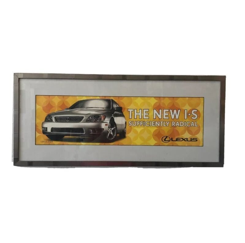The New I S Lexus Car Auto Sufficiently Radical Promo Poster Framed Wall Art 30""